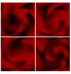 set of red satin textures scarlet abstract vector image