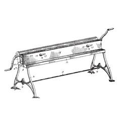 Sheet metal bending machine vintage vector