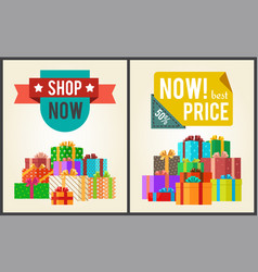 shop now best hot price promo labels ribbons stars vector image