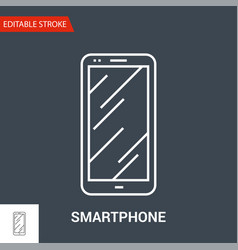 smartphone icon thin line vector image