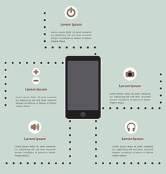 Smartphone infographic template vector image