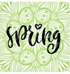 spring handwritting icon seasonal green vector image
