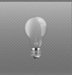 standard incandescent light bulb without vector image
