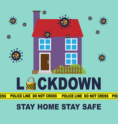 Stay home safe vector
