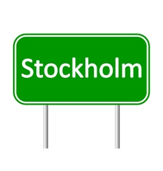 Stockholm road sign vector