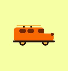 Stylish icon in flat style retro car vector
