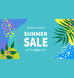 summer sale banner templates for social vector image