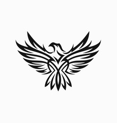 Tribal eagle tattoo vector
