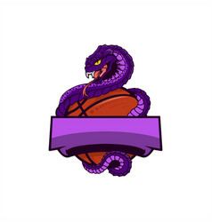 Viper basket ball logo vector