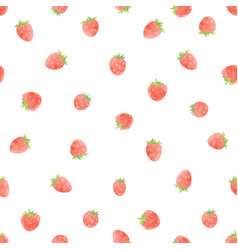 watercolor strawberry pattern vector image
