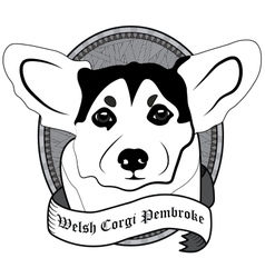 Welsh corgi pembroke Portrait Isolated dog vector image