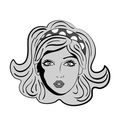 Woman comic face vector image