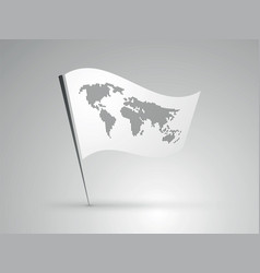 world map on the flag vector image