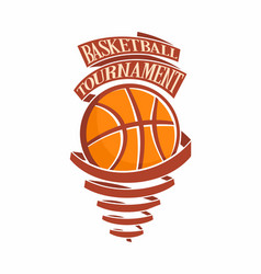 basketball tournament vector image
