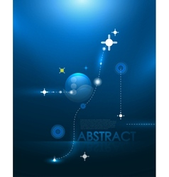 blue galaxy background vector image vector image