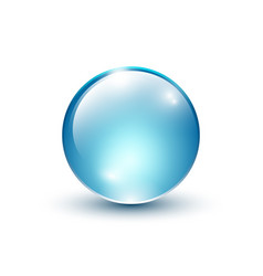 blue shiny glass sphere vector image