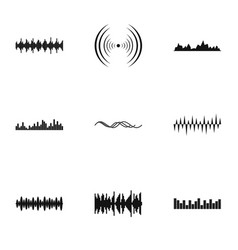 buzz icons set simple style vector image vector image