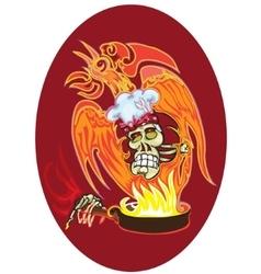 chef - skull vector image vector image