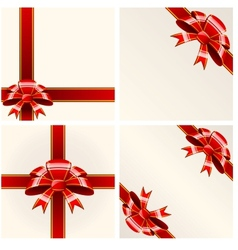 Red bow with ribbons vector image vector image