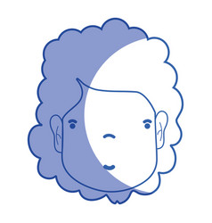 silhouette woman face with hairstyle and vector image vector image