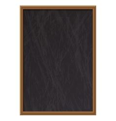 Vertical empty wooden chalk board vector image