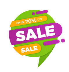 colorful speech bubble sale design banner price vector image