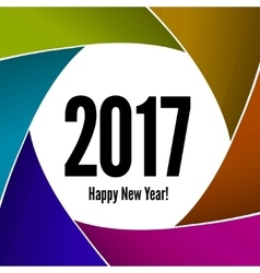 Happy New Year 2017 on a background of the camera vector image vector image