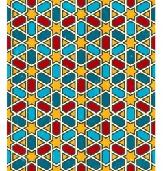 Moroccan geometric pattern seamless background vector image vector image