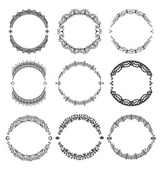 set of abstract decorative ornamets vector image vector image