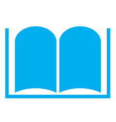 Book icon on white background book symbol vector