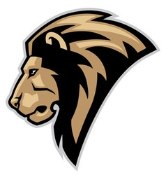 lion head mascot vector image vector image