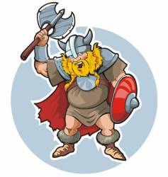 Viking with an axe vector image vector image