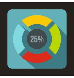 Web preloader 25 percent icon flat style vector image
