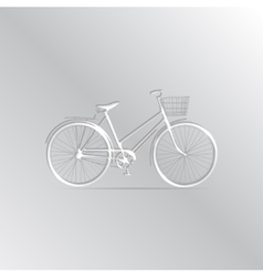 white bicycle Icon on a gradient background vector image