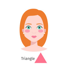woman face triangle type vector image vector image