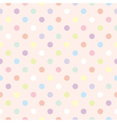 Colorful dots retro vector image vector image