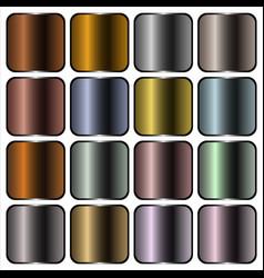 metal gradients vector image vector image