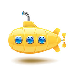 submarine isolated on white vector image