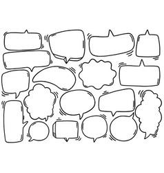 0131 hand drawn background set cute speech vector