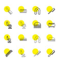 16 barbershop icons vector