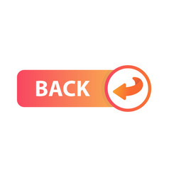 back button icon vector image