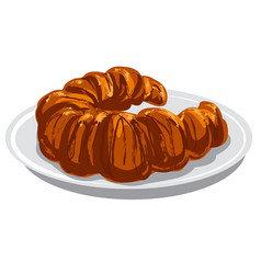 Baked croissant vector