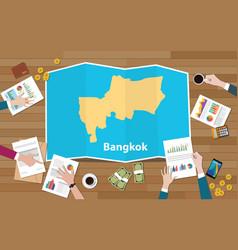 Bangkok thailand capital city region economy vector