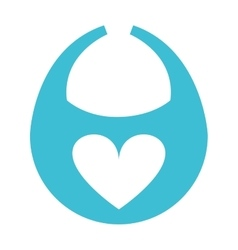 Bib baby heart icon vector