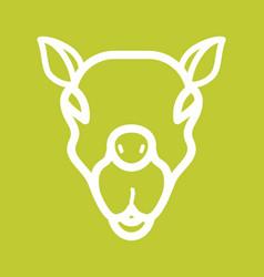 Camel face vector