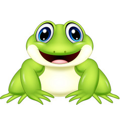Cartoon frog isolated on white background vector