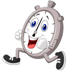 Cartoon stopwatch running vector