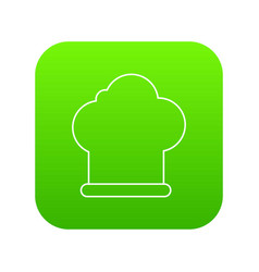 chef hat icon green vector image