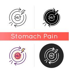 Chronic abdominal pain icon vector