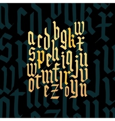 Composition of lowercase letters blackletter vector